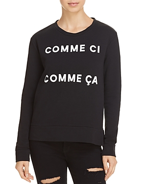French Connection Comme Ci Comme Ca Graphic Sweatshirt