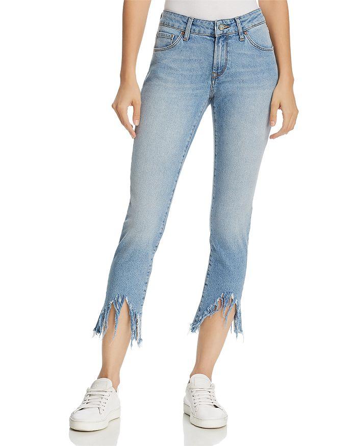 Mavi - Adriana Ankle Mid Rise Super Skinny Jeans in Light Fringe 90's