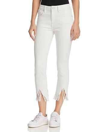 Mavi - Tess High Rise Skinny Fringe Jeans in White Fringe Vintage