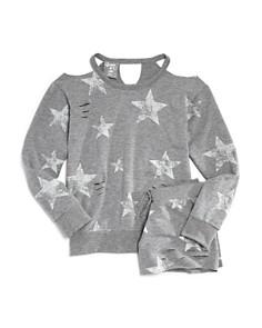 Flowers by Zoe Girls' Distressed Star-Print Sweatshirt & Shorts - Big Kid - Bloomingdale's_0
