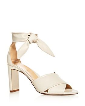 MARION PARKE - Women's Leah Leather Ankle Tie High-Heel Sandals