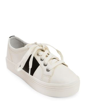 WOMEN'S TAVINA LEATHER LACE UP PLATFORM SNEAKERS