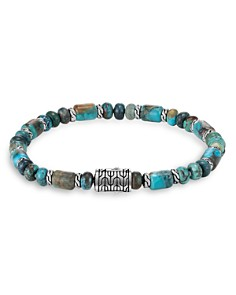 JOHN HARDY - Sterling Silver Classic Chain Mixed Turquoise Bead Bracelet