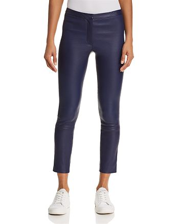 Theory - Classic Skinny Leather Pants