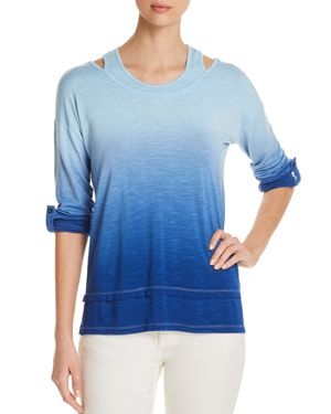 DESIGN HISTORY LAYERED-LOOK DIP-DYED TOP