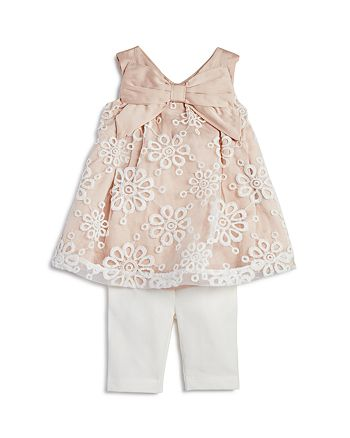 Miniclasix - Girls' Lace Tunic & Capri Leggings Set - Baby