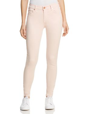 Jennie Curvy Skinny Jeans In Washed Peony in Light Pink