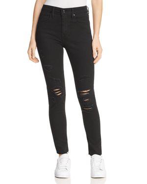 Levi's 721 High Rise Skinny Jeans in Atomic Black