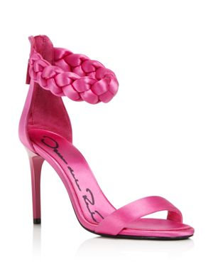 Satin Stiletto Sandals