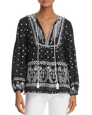 ELBA EMBROIDERED TOP