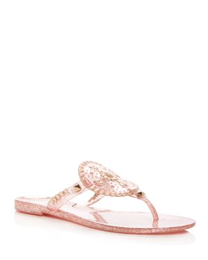 SPARKLE GEORGICA JELLY THONG SANDALS