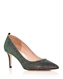 e6c973bb58f1 Jimmy Choo Women s Joan 60 Glitter Mesh   Leather Pointed Toe Mid ...