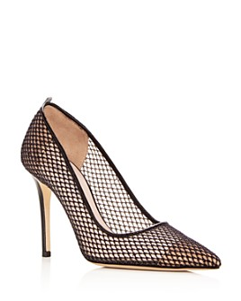 SJP by Sarah Jessica Parker - Women's Fawn Fishnet Pointed Toe Pumps