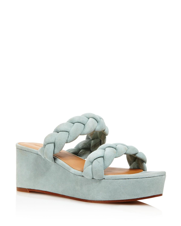 Rebecca Minkoff Women's Imani Braided Suede Platform Slide Sandals - 100% Exclusive SRICx