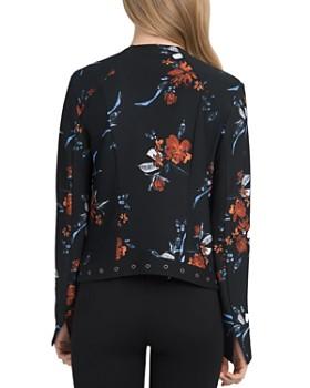Lyssé - Grommet Trim Floral Print Jacket