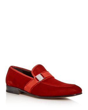 Salvatore Ferragamo Men's Velvet Apron Toe Loafers