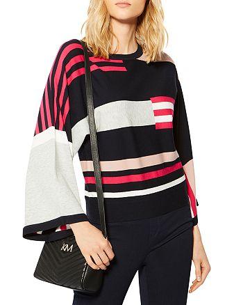 KAREN MILLEN - Striped Color-Block Sweater