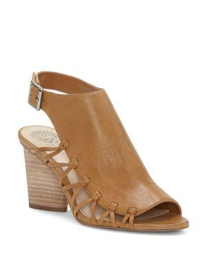 Vince Camuto Women's Ankara Leather Knot Detail High-Heel Sandals 2803021