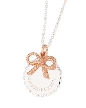 Olivia Burton Vintage Bow Coin Pendant Necklace, 20