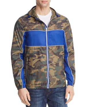 PACIFIC & PARK COLOR-BLOCKED CAMOUFLAGE HOODED JACKET - 100% EXCLUSIVE