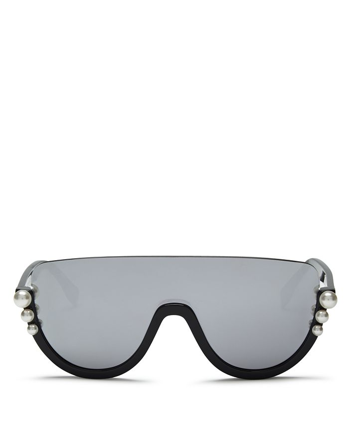 fa2c1a2b81 Fendi - Women s Embellished Mirrored Shield Sunglasses