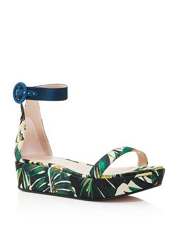 d328635bd96 Stuart Weitzman - Women s Capri Printed Jacquard Platform Ankle Strap  Sandals - 100% Exclusive