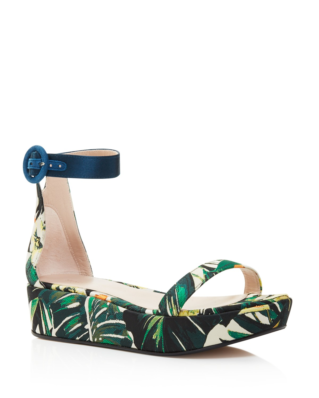 Stuart Weitzman Women's Capri Suede Platform Ankle Strap Sandals - 100% Exclusive BUfWbO7