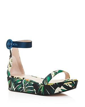 820d2ea03e2a STUART WEITZMAN. Women S Capri Printed Jacquard Platform Ankle Strap Sandals  ...