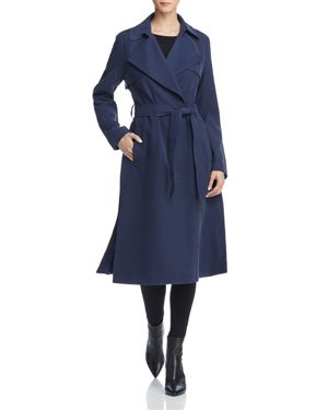 Player Button Front Trench Coat, Navy