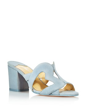 Isa Tapia - Women's Amor Suede Heart Cutout Slide Sandals