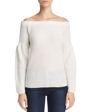 Rebecca Minkoff Lottie Off-the-Shoulder Wool & Cashmere Sweater