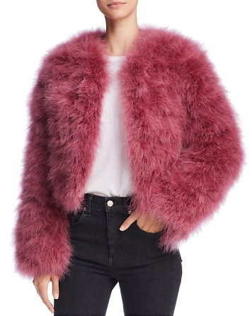 $Rebecca Minkoff Pacha Feather Jacket - Bloomingdale's