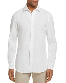 Eidos - Seersucker Washed Regular Fit Button-Down Shirt