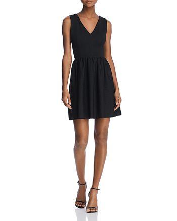 AQUA - V-Back Fit-and-Flare Dress - 100% Exclusive