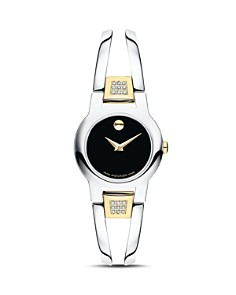 Movado - Amorosa Diamond Two-Tone Watch, 24mm