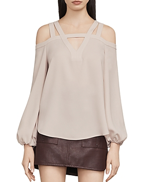 Bcbgmaxazria Tina Cold Shoulder Cutout Blouse