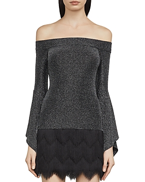 Bcbgmaxazria Liane Metallic Off-the-Shoulder Top