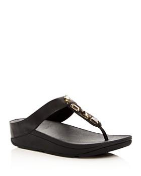cc70e5da7c94 FitFlop - Women s Roka Embellished Platform Thong Sandals ...