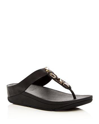 FitFlop - Women's Roka Embellished Platform Thong Sandals