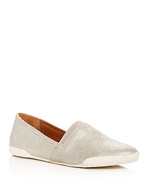 Frye Women's Melanie Metallic Suede Slip-On Sneakers