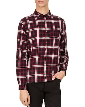 The Kooples Christmas Slim Fit Button-Down Shirt