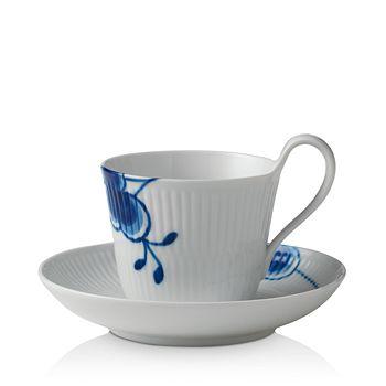 Royal Copenhagen - Blue Mega High Handle Cup & Saucer