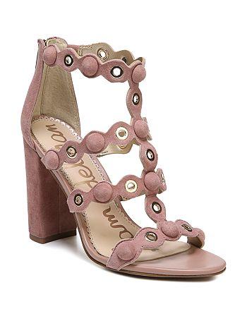 Sam Edelman - Women's Yuli Suede Grommet Block Heel Sandals