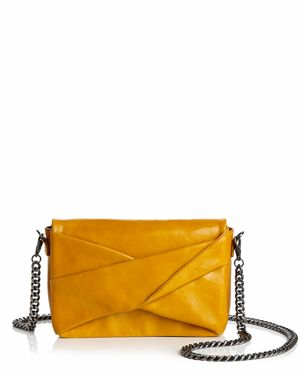 Halston Heritage Grace Small Bow Convertible Leather Crossbody 3139792