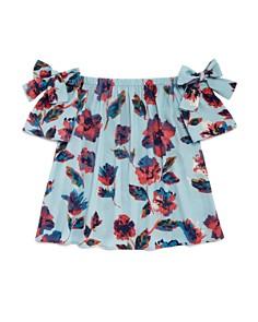 AQUA Girls' Off-the-Shoulder Floral Top, Big Kid - 100% Exclusive - Bloomingdale's_0