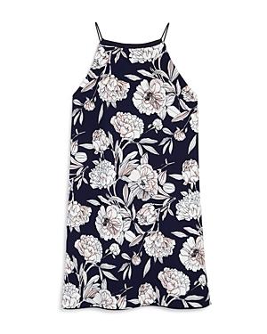 Aqua Girls Sleeveless Floral Dress Big Kid  100 Exclusive
