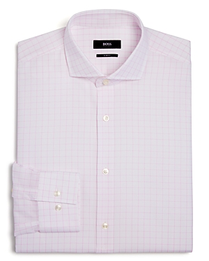 Boss Grid Slim Fit Dress Shirt