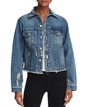 DISTRESSED DENIM JACKET - 100% EXCLUSIVE