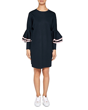 Ted Baker Ted Says Relax Chloae Frill-Sleeve Sweatshirt Dress