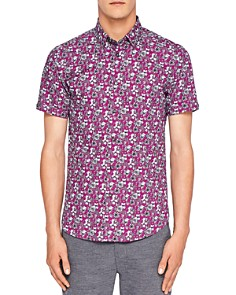 Ted Baker - Sellla Printed Floral Regular Fit Button-Down Shirt